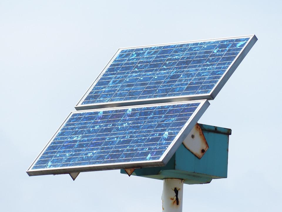 Cracked Solar Panel